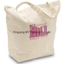 Fashion Style Cheap Handled Cotton Bag with Base