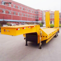 2 Axle 40T Gooseneck Low Bed نصف مقطورة