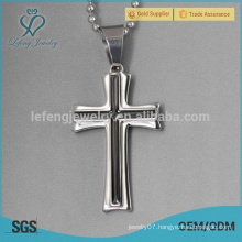 Stainless steel mens celtic cross necklace pendants wholesale