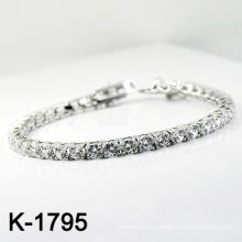 El micr3ofono de plata de la manera pavimenta la pulsera de la joyería del ajuste de la CZ (K-1795. JPG)