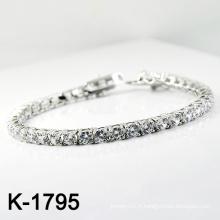 Bracelet en bijoux de mode Silver Micro Pave CZ réglable (K-1795. JPG)