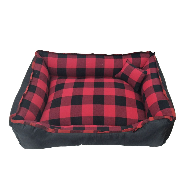 Christmas Plaid Cloth Pet Bed