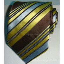 Corbata tejida de seda de Jacquard de los hombres