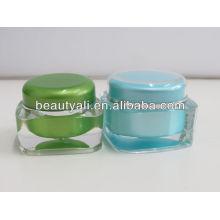 15ml 30ml 50ml 75ml 125ml Square acrylic cream container acrylic cosmetic jar