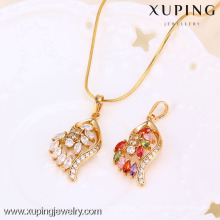 31306 Xuping pendentif plaqué or bijoux de mode avec de nombreux Zircon