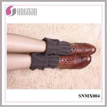 Invierno 2015 Botón caliente Decorar Knit Short calentadores de la pierna