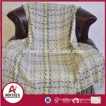Hot sale acrylic fabric woven throw blanket wholesale