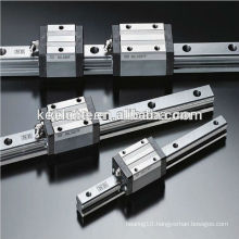 Linear slide bearing with linear bearing block
