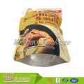 Bolso de plástico de encargo del papel de aluminio del diseño 400ml alineado que se levanta de la bolsa de plástico de empaquetado de la salsa del canalón