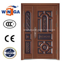 Dould Doorleaf Secuirty Iron Steel Copper Door (W-STZ-04)