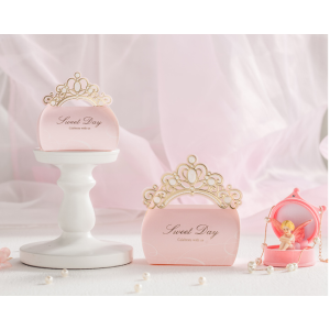 High end wedding candy paper box