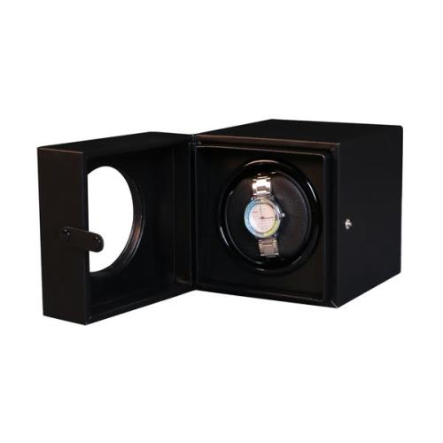 Black Leather Watch Winder Box