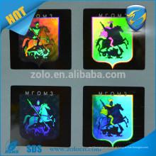 Design customizado etiqueta de etiqueta de selo de holograma de matriz de ponto para chapéu e vestuário, etiqueta de logotipo hologrphic anti-falsificação