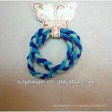 cuerda de pelo elástica azul cielo