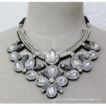 Леди мода Белый стекло Кристалл Кулон ожерелье костюма ювелирные изделия (JE0208)