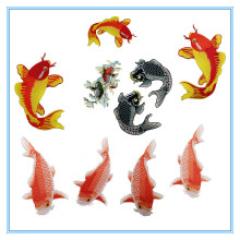 3D Iron on Gold Fish Embroidery Patches for Coat Decoration