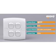 Instalación oculta Igoto E401 Interruptor de pared de 4 pandillas