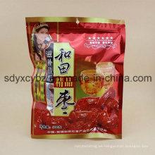 El tamaño modificó el empaquetado de plástico sano secado de los frutos secos del bocado con Ziplock