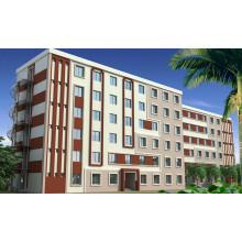 Appartement Structure en Acier avec Certification Ce (KXD-pH032)