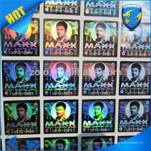Promotion benutzerdefinierte Hologramm Aufkleber Klebstoff Garantie holographischen Aufkleber Etikett
