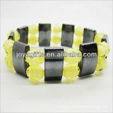 01B5009-6 / novos produtos para 2013 / hematita spacer pulseira de jóias / bracelete de hematita / pulseiras de saúde hematita magnética
