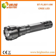 Factory Supply High Power Aluminium 3.7v 3 modes XPG 5W CREE LED Rechargeable Long Distance Torch Avec 18650 Li-thium Battery