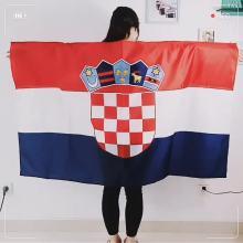 Новый дизайн 100% полиэстер с принтом флаг Хорватии накидка