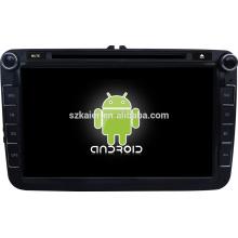 Quadruple noyau androïde écran tactile capacitif Android 4.4.4 lecteur dvd de voiture avec wifi