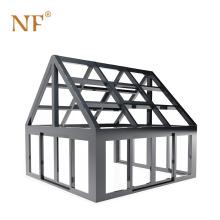 Frame Green House Prefabricated Aluminum Glass Sunroom Modern Portable Sunroom Tempered Glass Aluminum Alloy Customized Triangle
