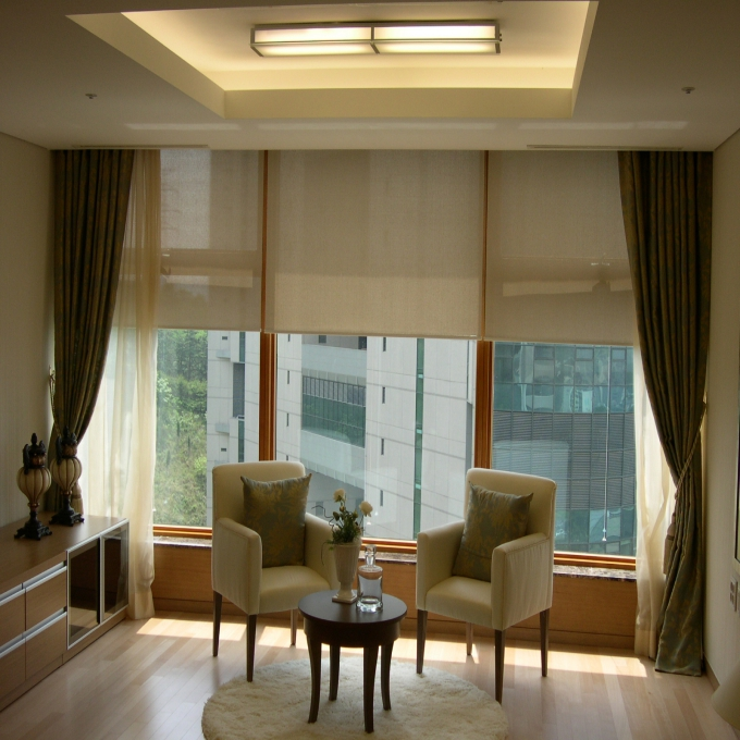 fabric roller shades for window