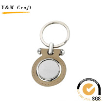 Promotional Metal Leather Key Chain for Laser Logo