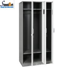 Vente bien école utilisé métal 3 portes almirah design fait à luoyang