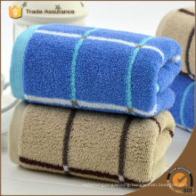 gridding 100% cotton solid colour face towel home use