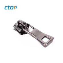Wholesale custom luggage pouch bag black reversible metal key lock zipper slider