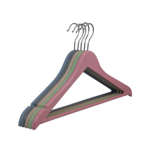 Biodegradable wheat straw PP plastic hangers for clothing