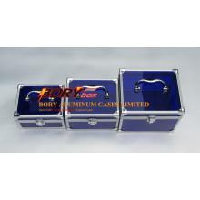 Blue Clear Transparent Acrylic Small Custom Make up Box