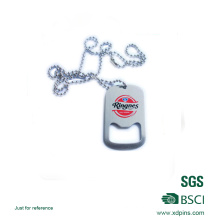 Customized Printed Multi Function Bottle Opener and Dog Tag