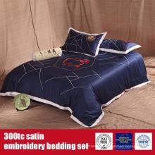 Collection de linge de lit de broderie en satin de coton 300TC