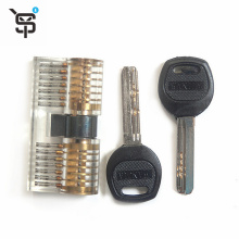 High Quality  Practice Cutaway Lock with 2 Key Transparent Visible Lock Pick Set Acrylic Stainless Steel