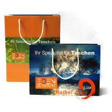 Рекламные пакеты для покупок бумаги, сумка для переноски коричневой крафт-бумаги (HBPB-5)
