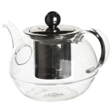 600ml Handmade Glass Teapot With Stainless Steel Infuser
