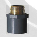 Adaptador macho ASTM SCH80 UPVC Color gris oscuro
