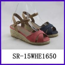 2015 nuevas mujeres de las sandalias del verano calzan las sandalias de los zapatos de la manera de las mujeres de los zapatos de los zapatos de las mujeres