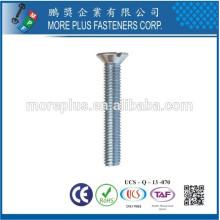 Fabricante em Taiwan aço inoxidável SUS306 M3X8 aparafusado com cabeça plana cabeça plana parafuso