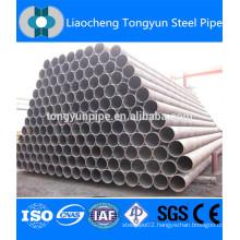 erw weld black round mild carbon steel pipe