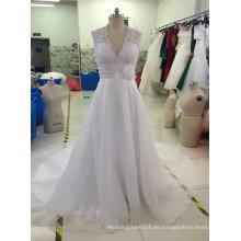 Aoliweiya Nagelneues wirkliches Beispiel-Brauthochzeits-Kleid mit kleinen Kornen