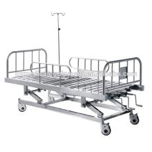 Equipo de enfermería de alta calidad ICU Cama de hospital médica manual de 3 posiciones