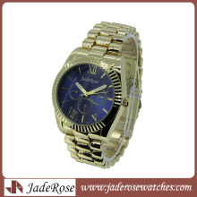 Blue Dial Metal Band Quarz Mode Damenuhr