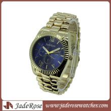 Синий Циферблат Метал Группы Кварцевые Женщины Мода Часы