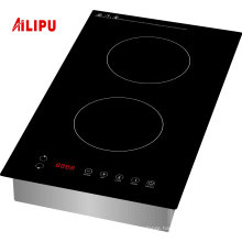 1800W Domino drop in vertical two burner electric ceramic hob for USA market